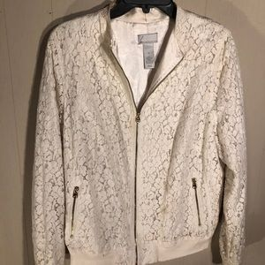 Lane Collection Lace zippered jacket-Brass Zips